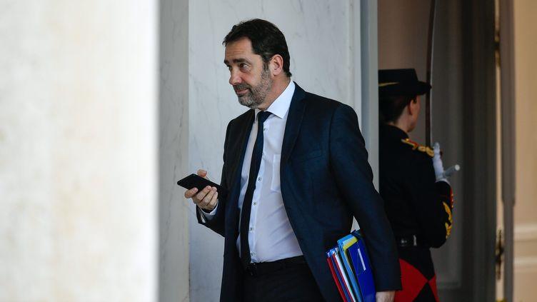 Le ministre de l'Intérieur Christophe Castaner, mercredi 13 février 2019 au palais de l'Elysée. (MAXPPP)