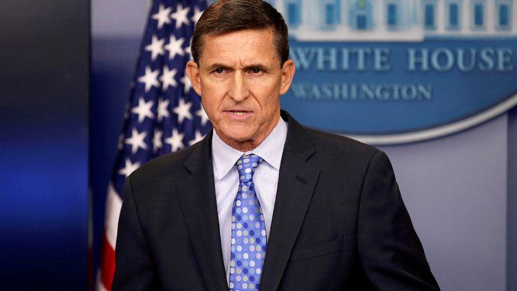 L'ancien conseiller de la Maison blanbche, Michael Flynn, à Washington, le 1er févrir 2017. (CARLOS BARRIA / REUTERS)