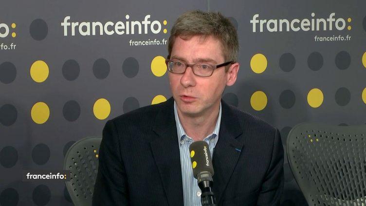 François Germinet, président de l'Université de Cergy Pontoise, vice-président de la commission formation et insertion professionnelle de la CPU, invité sur franceinfo le 15 mai 2019. (FRANCEINFO)