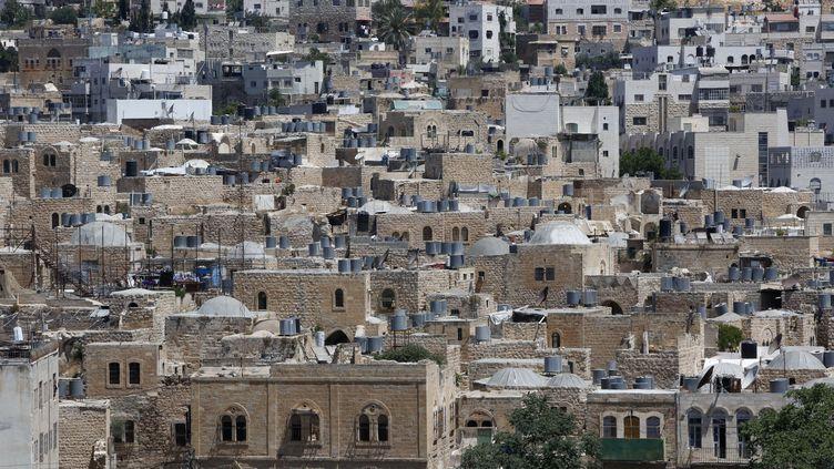 La vieille ville d'Hébron, en Cisjordanie, le 29 juin 2017. (HAZEM BADER / AFP)