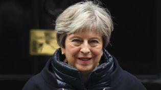 La Première ministre britannique, Theresa May, le 24 janvier 2018 à Londres. (ALBERTO PEZZALI / NURPHOTO / AFP)