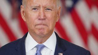 Le président des Etats-Unis, Joe Biden, le 12 août 2021 à Washington. (MANDEL NGAN / AFP)
