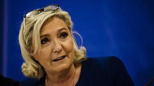 Marine Le Pen, le 3 mai 2019, à Sofia, en Bulgarie. (DIMITAR DILKOFF / AFP)