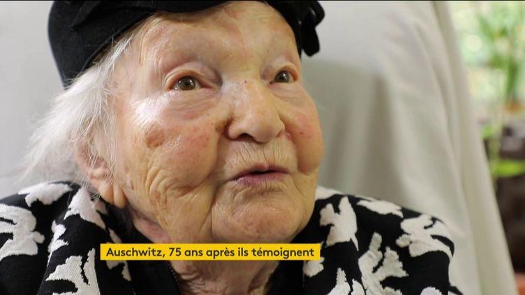 Agnès Zini, ancienne déportée juive (FRANCEINFO)