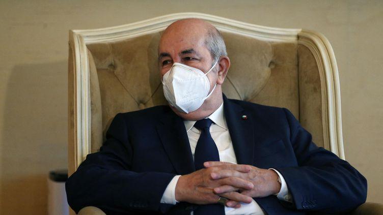 Le président algérien, Abdelmadjid Tebboune, le 19 juillet 2021, à Alger. (BILLAL BENSALEM / NURPHOTO / AFP)