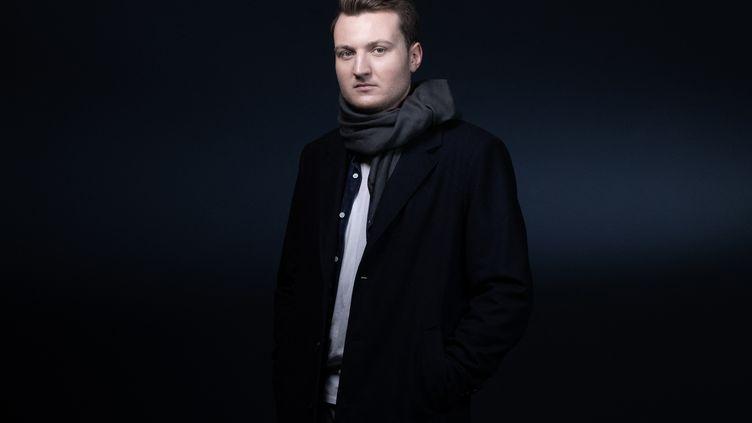 """Guillaume Rozier, créateur de """"Vite ma dose"""", à Paris, le 10 février 2021. (JOEL SAGET / AFP)"""