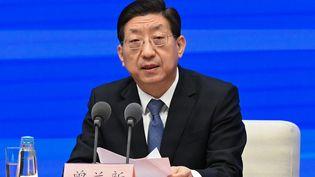 Le vice-ministre chinois de la Santé, Zeng Yixin, le 31 décembre 2020 à Pékin (Chine). (LEO RAMIREZ / AFP)