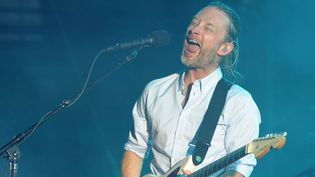 Thom Yorke de Radiohead en concert à Nîmes, le 10 juillet 2012.  (Sylvain Thomas / AFP)