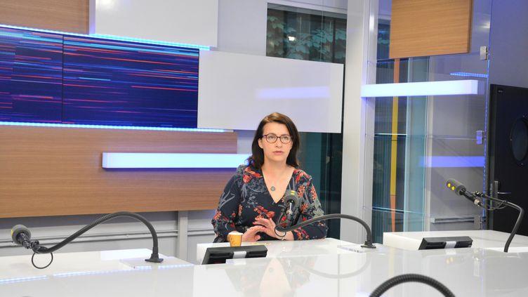 Cécile Duflot,députée écologiste de Paris, ancienne ministre du Logement et de l'Egalité des territoires. (RADIO FRANCE / JEAN-CHRISTOPHE BOURDILLAT)