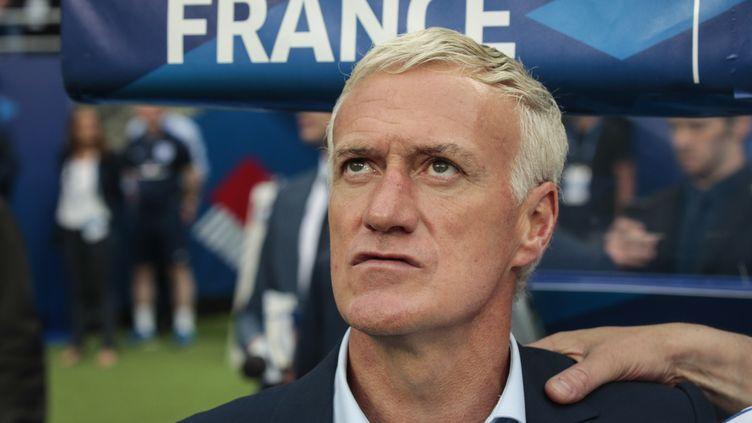 Le sélectionneur des Bleus Dider Deschamps  (GEOFFROY VAN DER HASSELT / NURPHOTO)