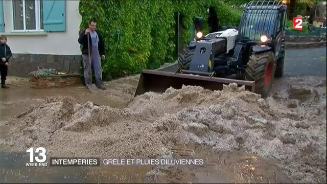 Intempéries : l'ouest de la France victime de la pluie et la grêle
