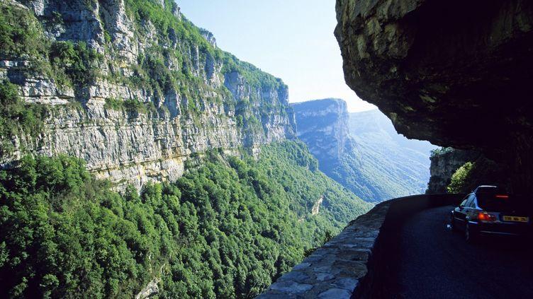 Le sportif avait disparu après s'être élancé d'une falaise au-dessus des gorges de la Bourne (Isère). (MOIRENC CAMILLE / HEMIS.FR / AFP)