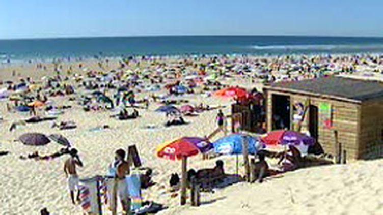 La plage de Mimizan, dans les Landes (© F2)