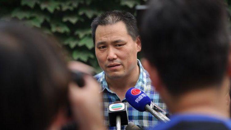 Pu Zhiqiang, avocat chinois des droits de l'Homme, a assuré la défense de nombreux dissidents dont l'artiste Ai Weiwei. (ED JONES / AFP)