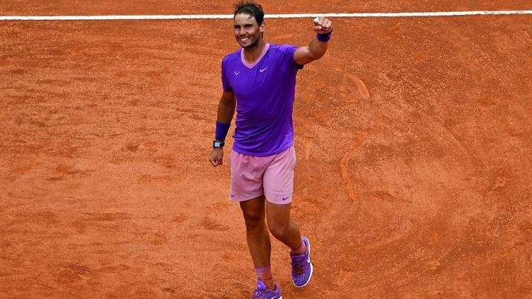 Rafael Nadals'est imposé face àReilly Opelka en demi-finale du Masters 1000 de Rome. (ANDREAS SOLARO / AFP)