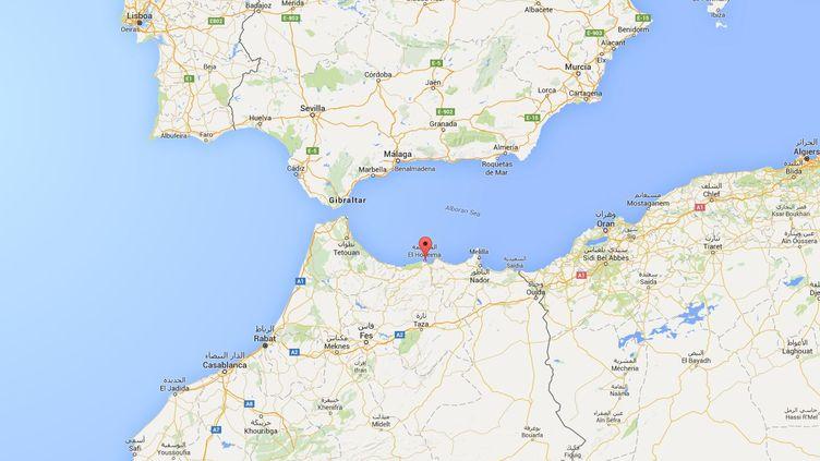 L'épicentre du séisme, survenu le 25 janvier, a été localisé au sud de la ville espagnole de Malaga et au nord de la ville marocaine d'Al Hoceïma. (GOOGLE MAPS)