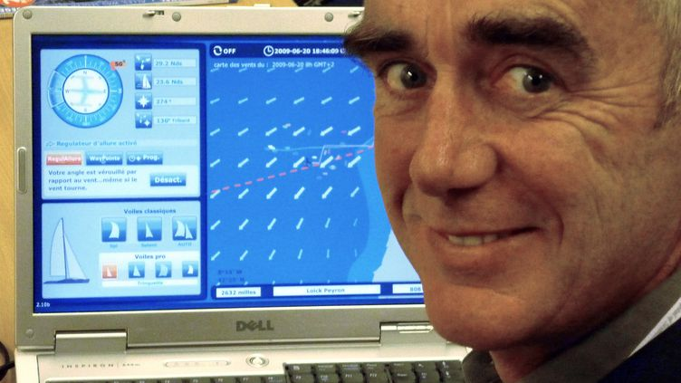 Loïck Peyron en juin 2009 jouait déjà à Virtual Regatta. (OLIVIER MORIN / AFP)
