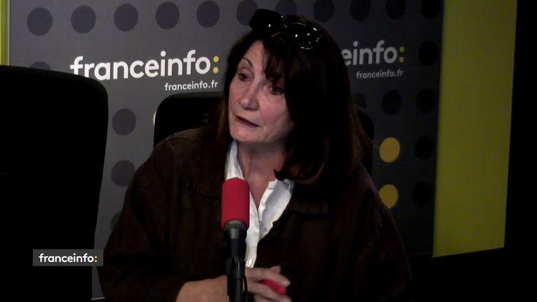 Chantal Perrichon, présidente de la Ligue contre la violence routière, le 18 mai 2018. (RADIO FRANCE / FRANCEINFO)