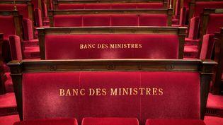 Le banc des ministres à l'Assemblée nationale. (JOEL SAGET / AFP)