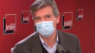 L'ancien ministre de l'Économie, Arnaud Montebourg, sur France Inter, le 5 novembre 2020. (FRANCEINTER /RADIOFRANCE)