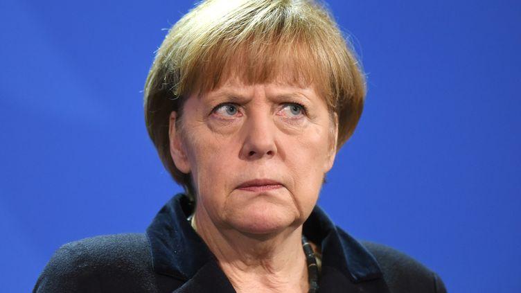 La chancelière allemande Angela Merkel, le 21 novembre 2014 à Berlin. (RAINER JENSEN / DPA / AFP)