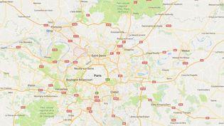 Capture d'écran de Google maps pointant Argenteuil (Val d'Oise) où un homme de 25 ans a frappé un couple d'homosexuels, le 24 novembre 2016. (GOOGLE MAPS)