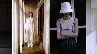 Show Mame Kurogouchi printemps-été 2021 présenté sur la plateforme digitale de la Fédération de la haute couture et de la mode lors de la Paris Fashion Week, le 28 septembre 2020 (Yuichiro Noda)