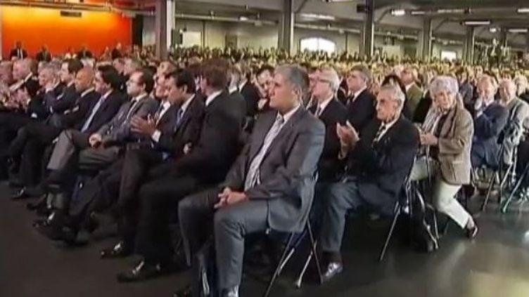 Bordeaux 15 novemvre 2011, public du discours de Nicolas Sarkozy (FTVi / GUILLAUNE DARET, CHOE CORMERY, VARERY LEROUGE ET FABIEN TORMOS - FRANCE 2)