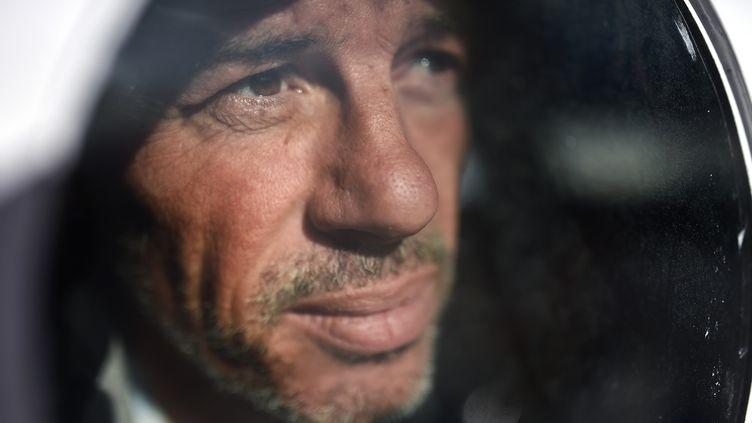 Le skipper de TechnoFirst - FaceOcean Sébastien Destremau (JEAN-SEBASTIEN EVRARD / AFP)