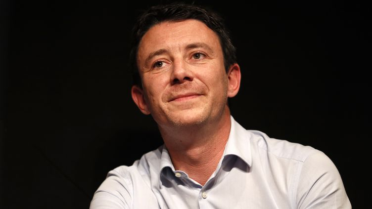 Benjamin Griveaux lors d'un meeting à Paris, le 20 mai 2017. (THOMAS SAMSON / AFP)