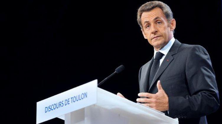 Nicolas Sarkozy, le 25 septembre 2008 à Toulon (ERIC FEFERBERG / POOL / AFP)