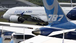 Airbus A380 au salon de l'aéronautique de Franborough, en Grande-Bretagne en 2014. (BLOOMBERG / BLOOMBERG /GETTY IMAGES)