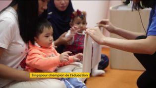 Un bébé fait du calcul mental à Singapour (FRANCEINFO)