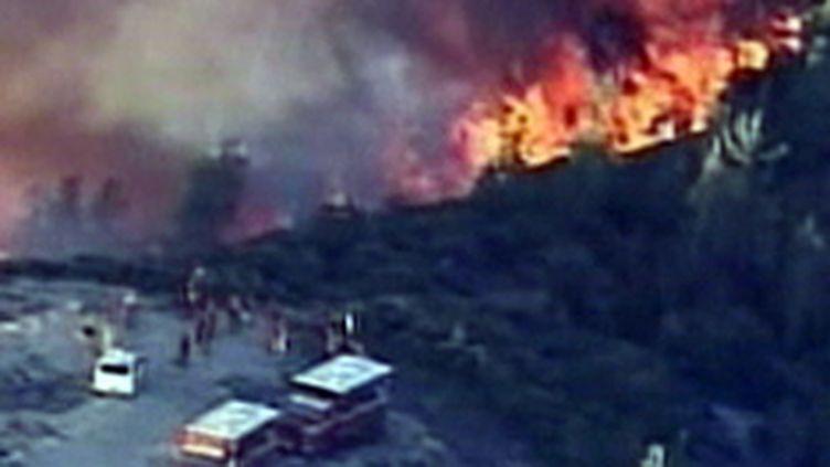 La bataille contre les flammes en Californie (17/08/09) (© France 2)