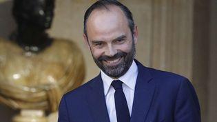 Le nouveau Premier ministre, Edouard Philippe, à l'Hôtel de Matignon (Paris), le 15 mai 2017. (KAMIL ZIHNIOGLU / AP / SIPA)