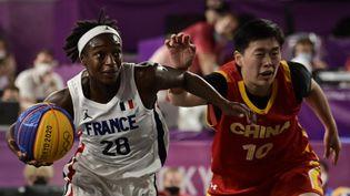 Mamignan Toure de l'équipe de France de basket 3x3. (JAVIER SORIANO / AFP)