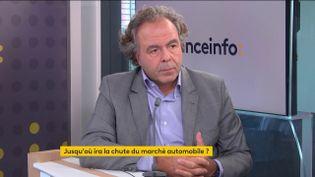 Luc Chatel, président de la Plateforme automobile (le 8 octobre 2021). (FRANCEINFO / RADIO FRANCE)