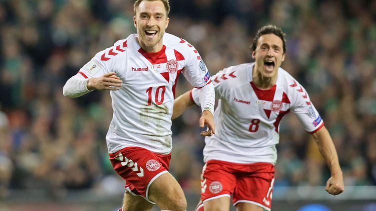 La joie des joueurs Danois qualifiés pour le Mondial en Russie