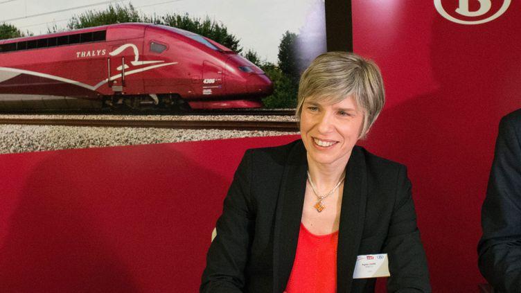 (Agnès Ogier est la directrice générale de Thalys © MaxPPP)