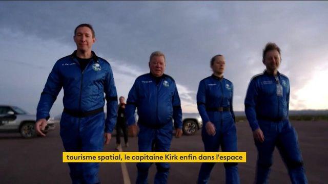 Tourisme spatial : à 90 ans, le capitaine Kirk enfin dans l'espace