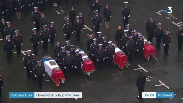 Attaque à la préfecture : la République a rendu hommage aux quatre victimes