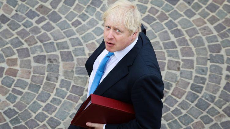 Le Premier ministre britannique, Boris Johnson, au sommet du G7, à Biarritz (Pyrénées-Atlantiques), le 26 août 2019. (LUDOVIC MARIN / AFP)