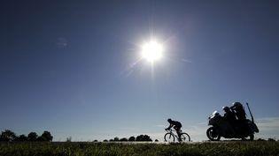 Le cycliste britannique Bradley Wiggins lors de la 6e étape du Tour de France 2007, à Attignat, dans l'Ain. (BAS CZERWINSKI/AP/SIPA)