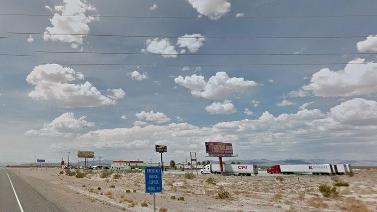 Une autoroute menant auArea 51 Alien Center, dans la vallée de l'Amargosa, dans le Nevada. (GOOGLE MAPS)