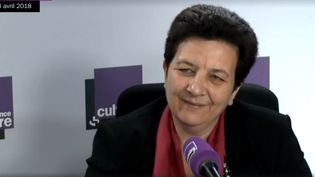 Frédérique Vidal, la ministre de l'Enseignement supérieur, sur France Culture vendredi 13 avril. (RADIO FRANCE)