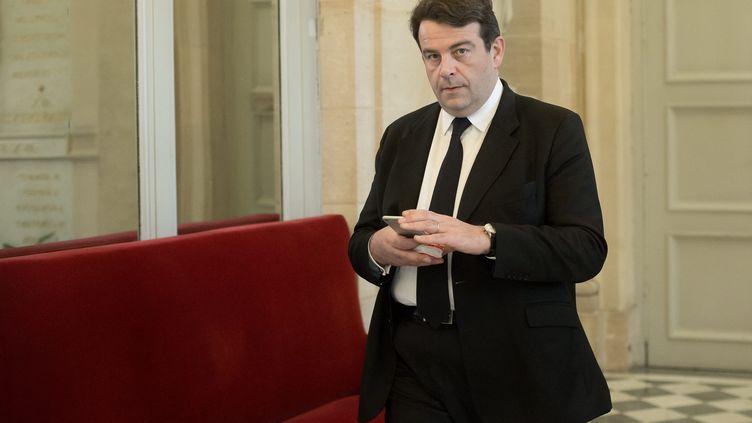 Le député Les Républicains Thierry Solère photographié à l'Assemblée nationale le 15 décembre 2015. (MAXPPP)
