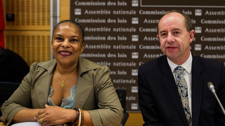Christiane Taubira et Jean-Jacques Urvoas à l'Assemblée nationale, le 18 octobre 2012. (MAXPPP)