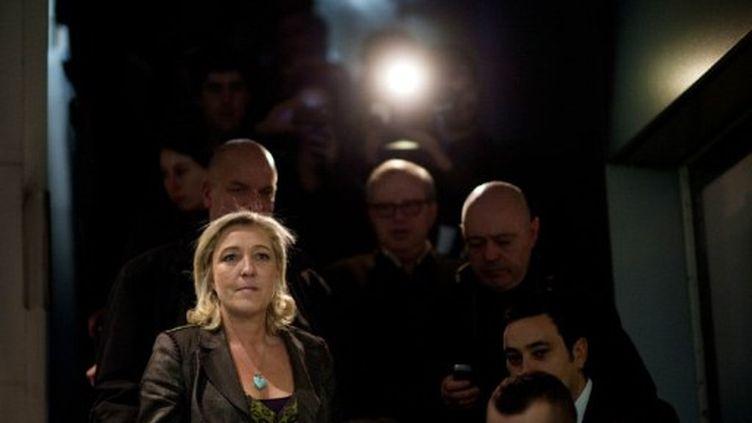 Marine Le Pen, candidate du Front national à l'élection présidentielle (MARTIN BUREAU / AFP)