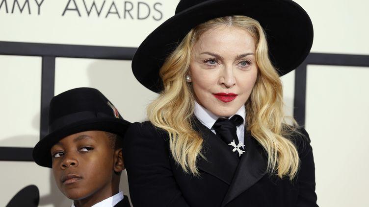 La chanteuse Madonna lors de la 56e cérémonie des Grammy Awards à Los Angeles (Etats-Unis), 26 janvier 2014. (DANNY MOLOSHOK / REUTERS)