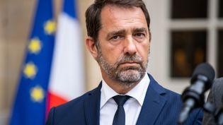 Christophe Castaner, ministre de l'Intérieur, lors d'un discours d'Edouard Philippe, le 30 juillet 2019 (illustration). (XOSE BOUZAS / HANS LUCAS / AFP)
